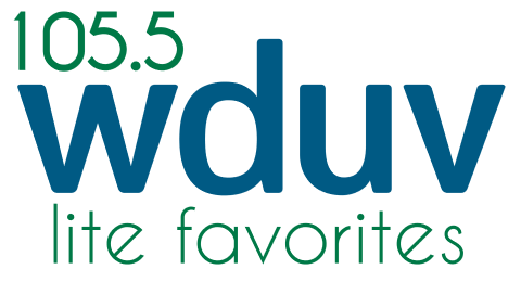 105.5 WDUV - Continuous Lite Favorites Logo
